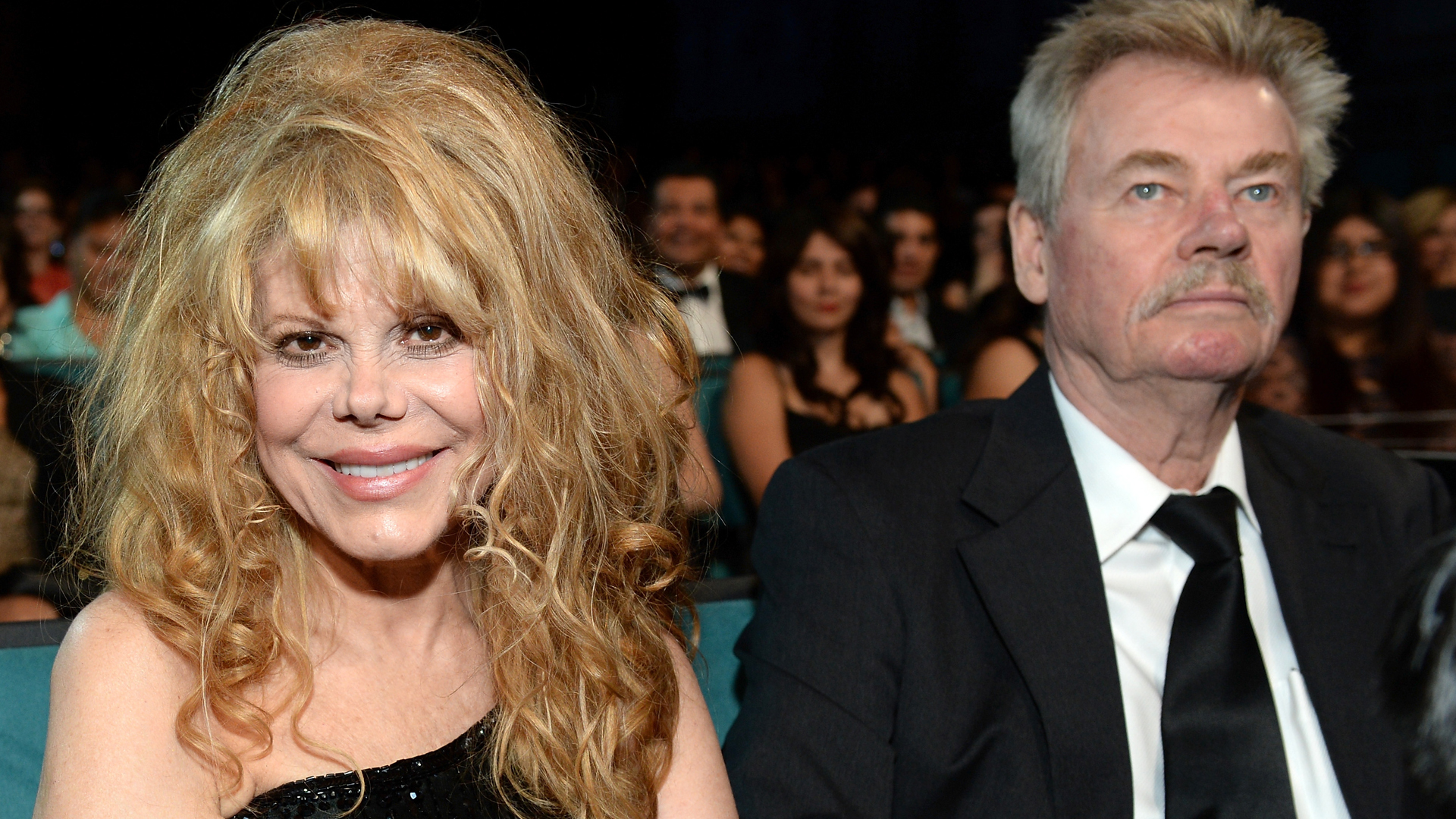 Singer Charo and her husband Kjell Rasten attend the 2013 NCLR ALMA Awards at Pasadena Civic Auditorium on Sept. 27, 2013, in Pasadena. (Credit: Michael Kovac/Getty Images for NCLR)
