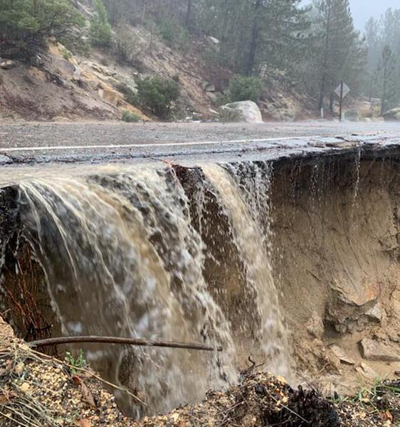 CHP San Gorgonio Pass shared this photo of State Route 243 at Saunders Meadow on Feb. 14, 2019.
