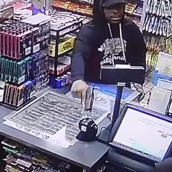 LAPD released video of a man who robbed two Canoga Park businesses in February 2019.