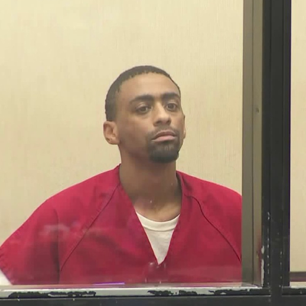 Brandon McGlover appears in a Murrieta courtroom on July 27, 2018. (Credit: KTLA)