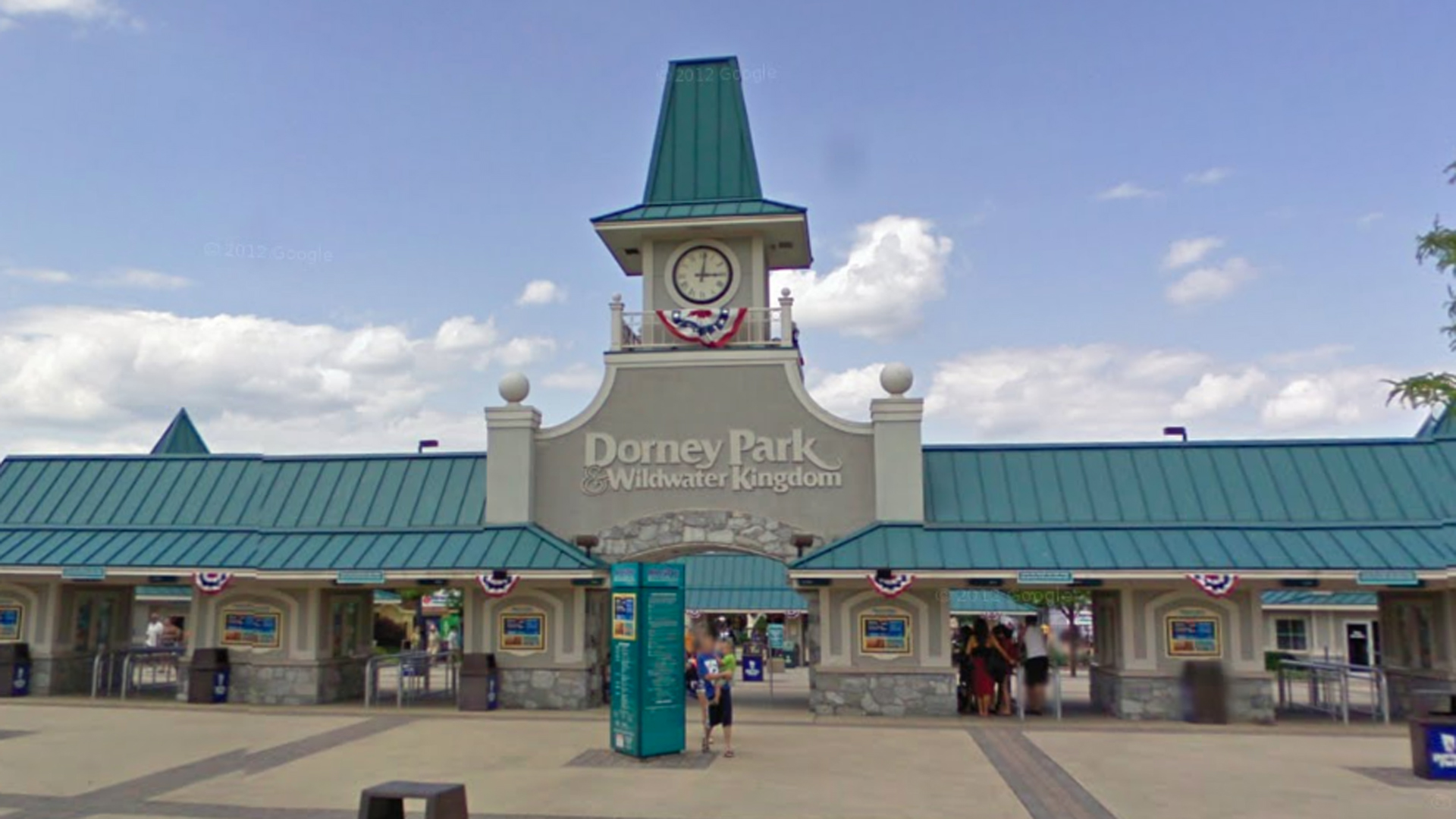 The entrance of Dorney Park and Wildwater Kingdom is seen in a Google Maps image.