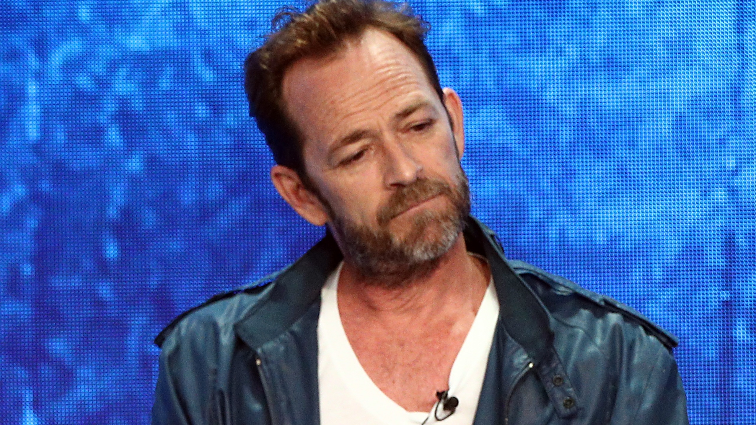 Luke Perry from 'Riverdale' speaks onstage at the CW Network portion of the Summer 2018 TCA Press Tour at The Beverly Hilton Hotel on August 6, 2018 in Beverly Hills, California. (Credit: Frederick M. Brown/Getty Images)