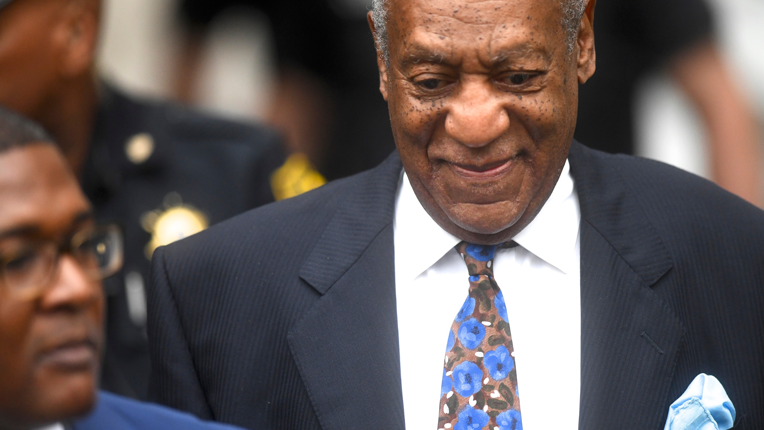 Bill Cosby arrives at the Montgomery County Courthouse on the first day of sentencing in his sexual assault trial on September 24, 2018 in Norristown, Pennsylvania. (Credit: Mark Makela/Getty Images)