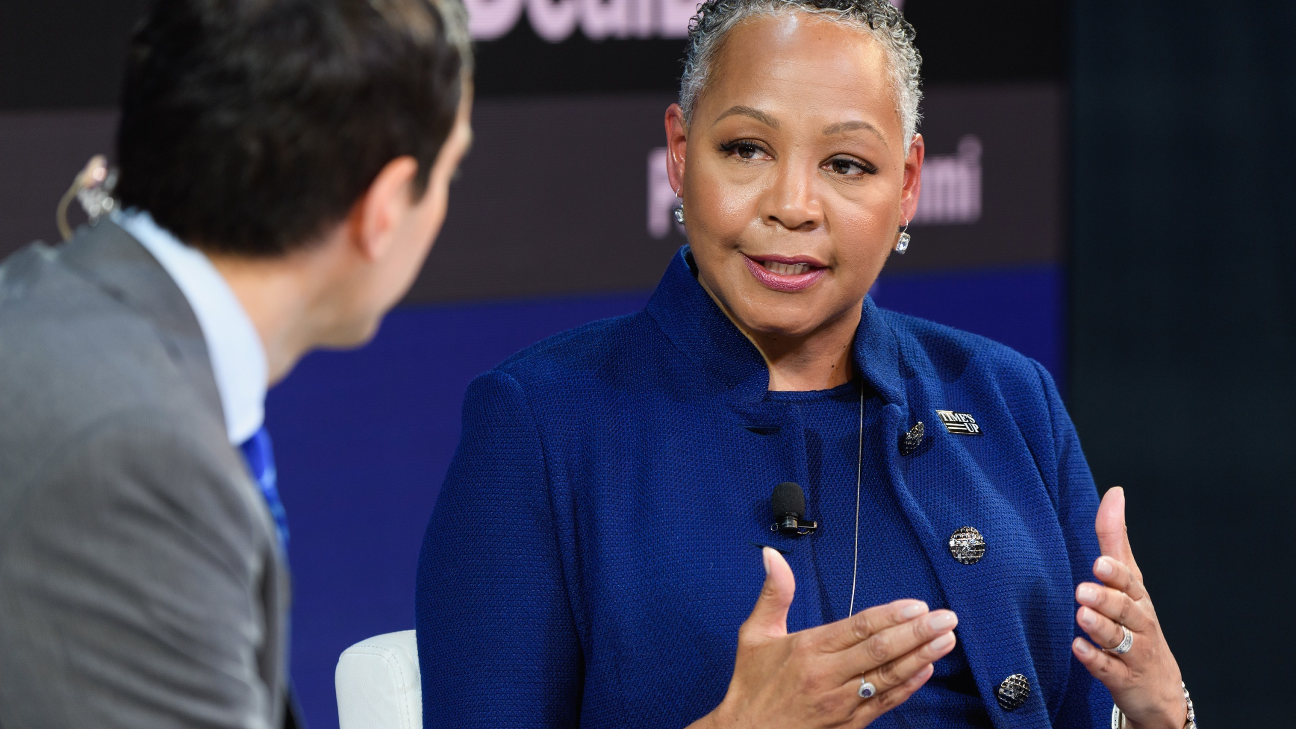 Lisa Borders, president and CEO of Time's Up speaks onstage during the 2018 New York Times Dealbook on Nov. 1, 2018, in New York City. (Credit: Michael Cohen/Getty Images for The New York Times)
