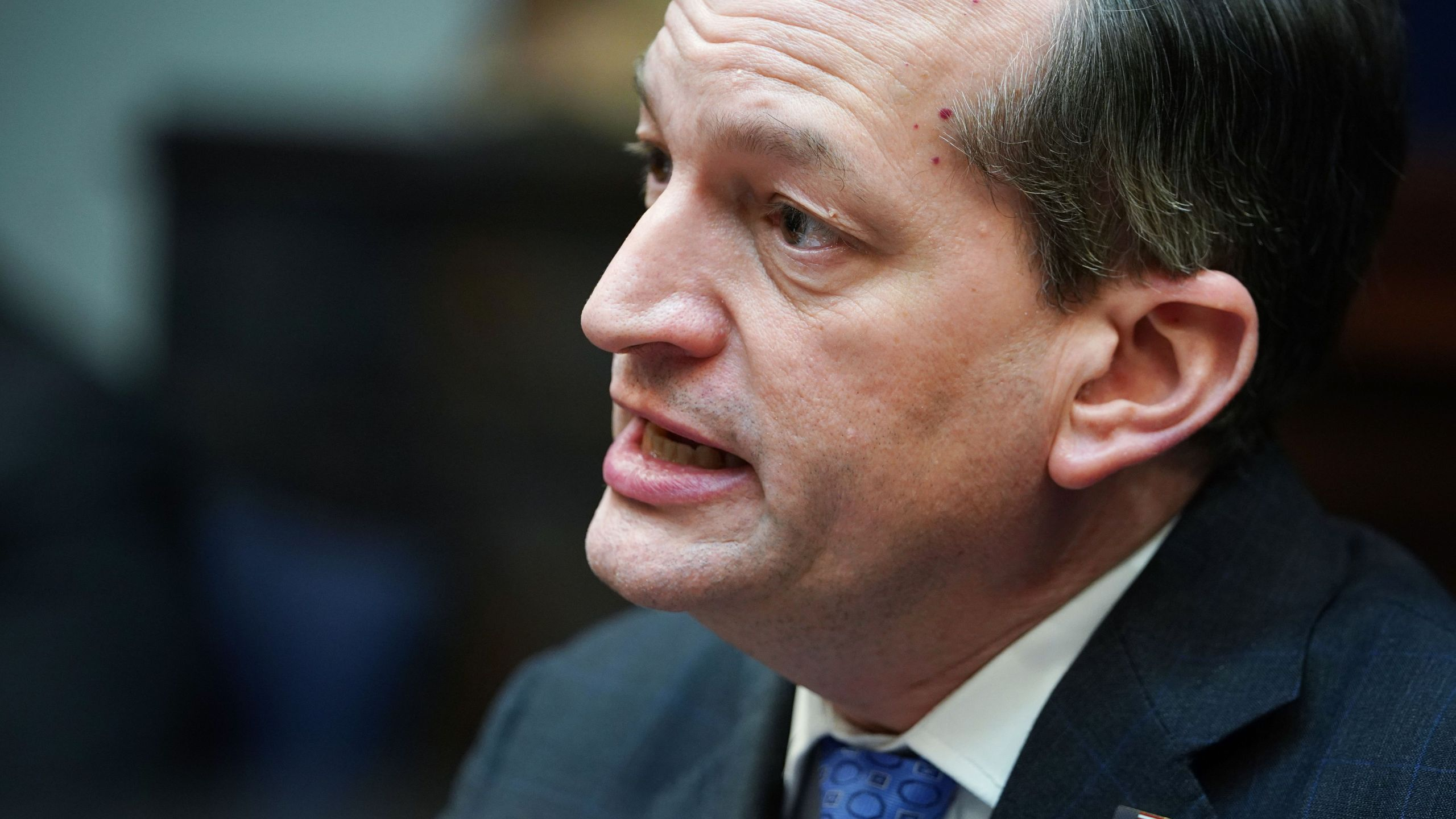 Labor Secretary Alex Acosta speaks during a roundtable discussion on healthcare cost in the Roosevelt Room of the White House on Jan. 23, 2019. (Credit: Mandel Ngan / AFP / Getty Images)