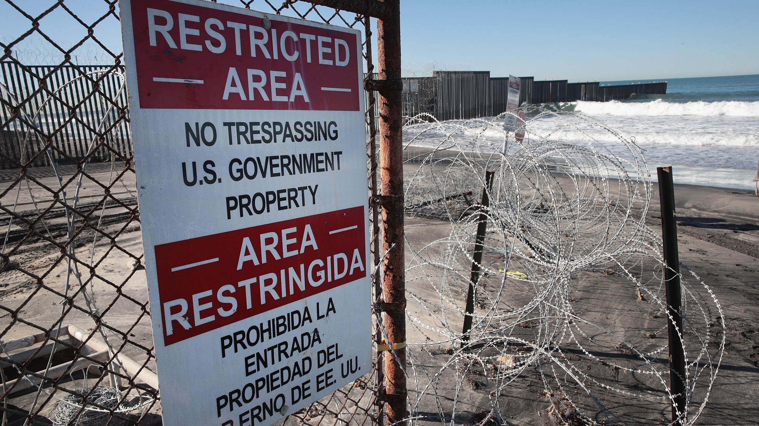 The Border Field State Park on the San Diego-Mexico border is seen on January 23, 2019. (Credit: Scott Olson/Getty Images)