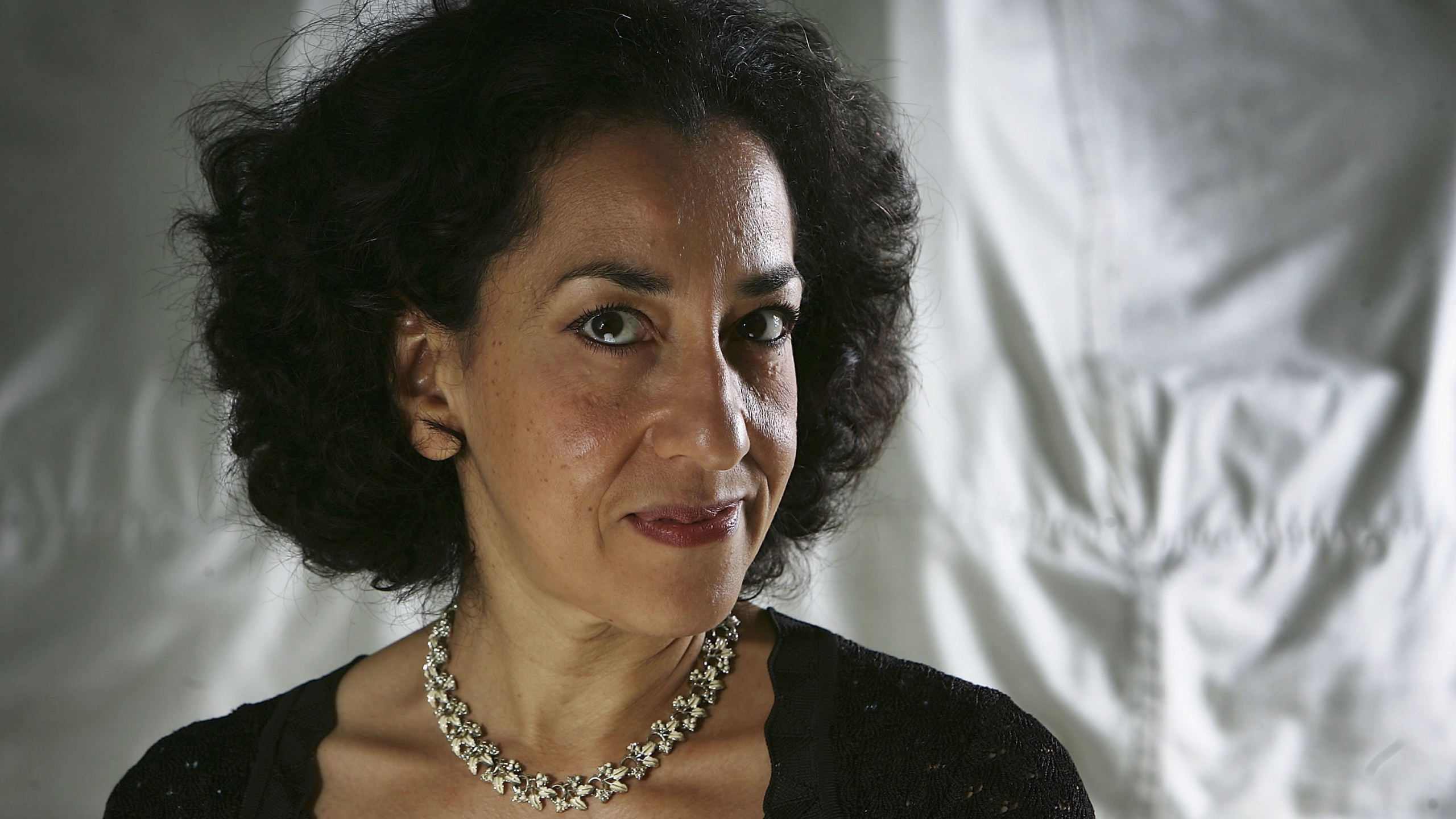 Author Andrea Levy poses for a portrait at Edinburgh Literary Festival held at Charlotte Square on August 16, 2005 in Glasgow, Scotland. (Credit: Christopher Furlong/Getty Images)