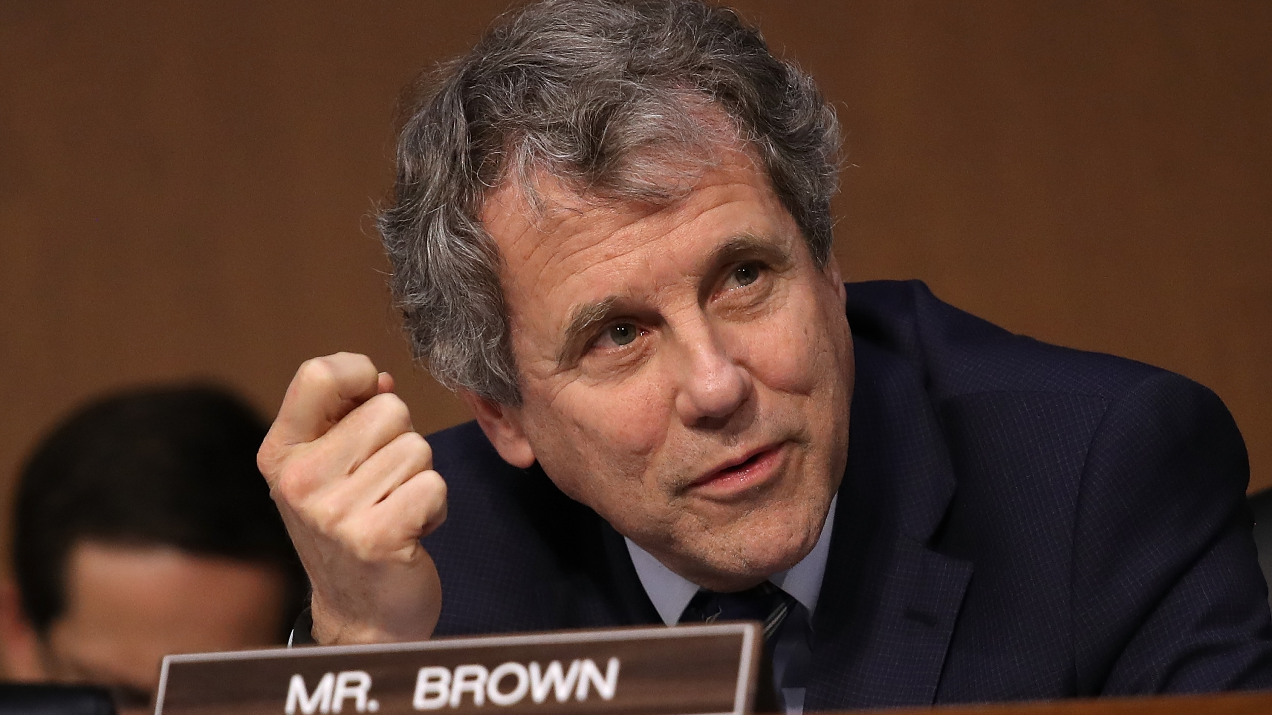 Sen. Sherrod Brown (D-OH) speaks during a markup of the Republican tax reform proposal Nov. 14, 2017, in Washington, D.C. (Credit: Win McNamee/Getty Images)