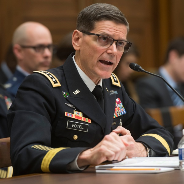 US Army General Joseph Votel, commander of the US Central Command, testifies during a House Armed Services Committee hearing on Capitol Hill in Washington, DC, February 27, 2018. / AFP PHOTO / SAUL LOEB (Credit: SAUL LOEB/AFP/Getty Images)