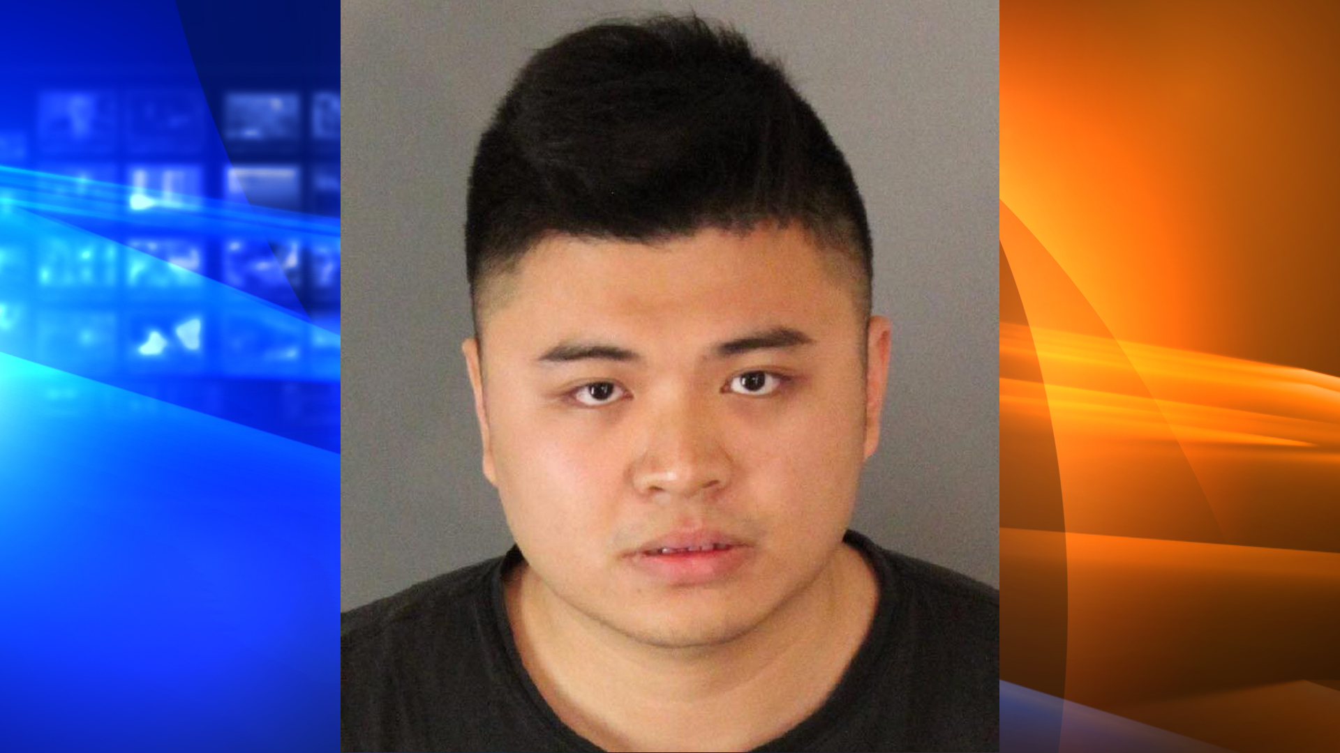 Li Haoming is seen in a booking photo released by Moreno Valley police.