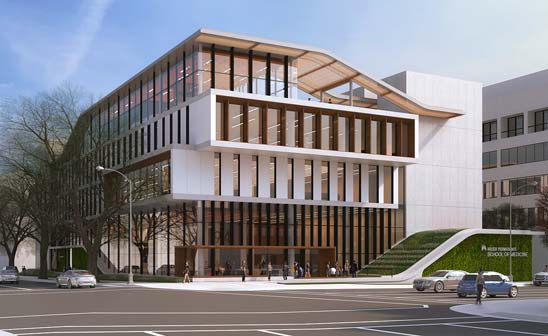 Kaiser Permanente on Feb. 19, 2019 released this rendering of a new medical school it plans to open in Pasadena in 2020.