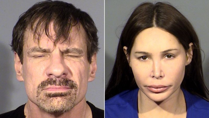 Broadcom co-founder Henry T. Nicholas III, left, and Ashley Fargo, right, are seen in undated photos provided by the Las Vegas Metropolitan Police.