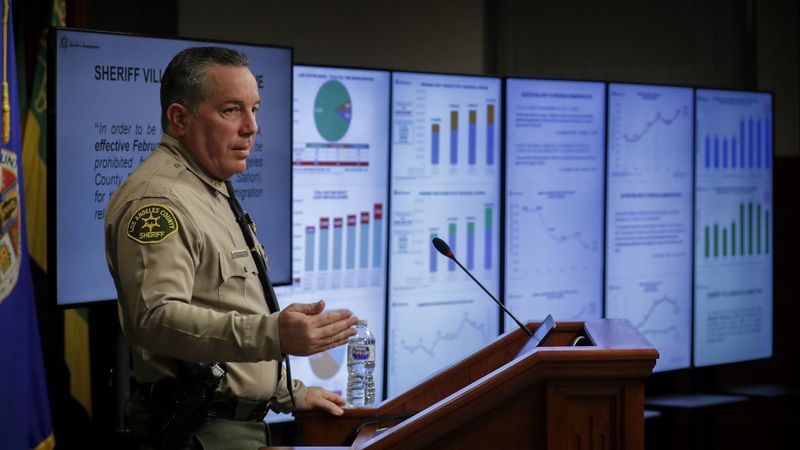 Sheriff Alex Villanueva is seen in this undated photo. (Credit: Irfan Khan / Los Angeles Times)