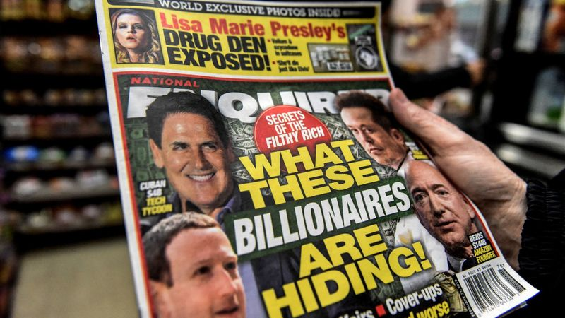 The National Enquirer is photographed at a convenience store in New York City on Feb. 8, 2019. (Credit: Stephanie Keith/Getty Images)