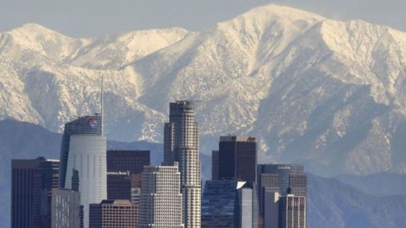A storm will hit the mountains of Southern California, bringing cold and snow. (Credit: Los Angeles Times)