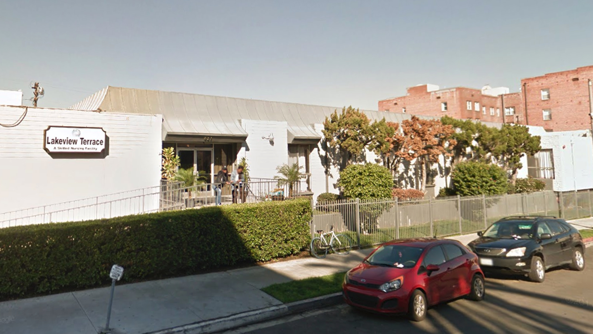 The Lakeview Terrace Skill Nursing Facility in the Westlake neighborhood of Los Angeles is seen in a Google Maps Street View image from January 2017.