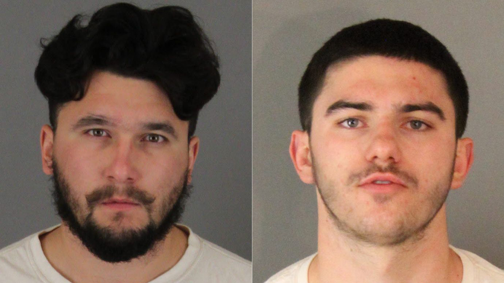 Gary Anthony Shover, left, and Owen Skyler Shover are seen in photos released by the Riverside County Sheriff's Department on Feb. 12, 2019.