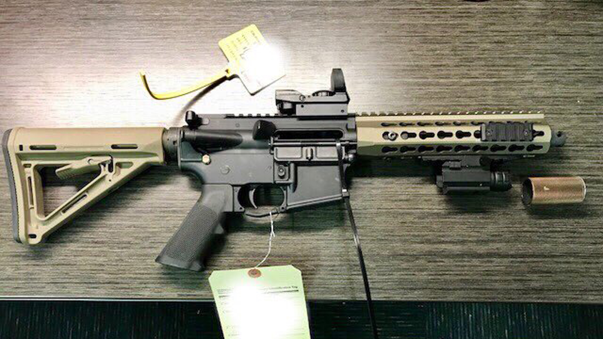 An AR-type semi-automatic rifle is seen in an undated photo released by the U.S. Bureau of Alcohol Tobacco, Firearms and Explosives.