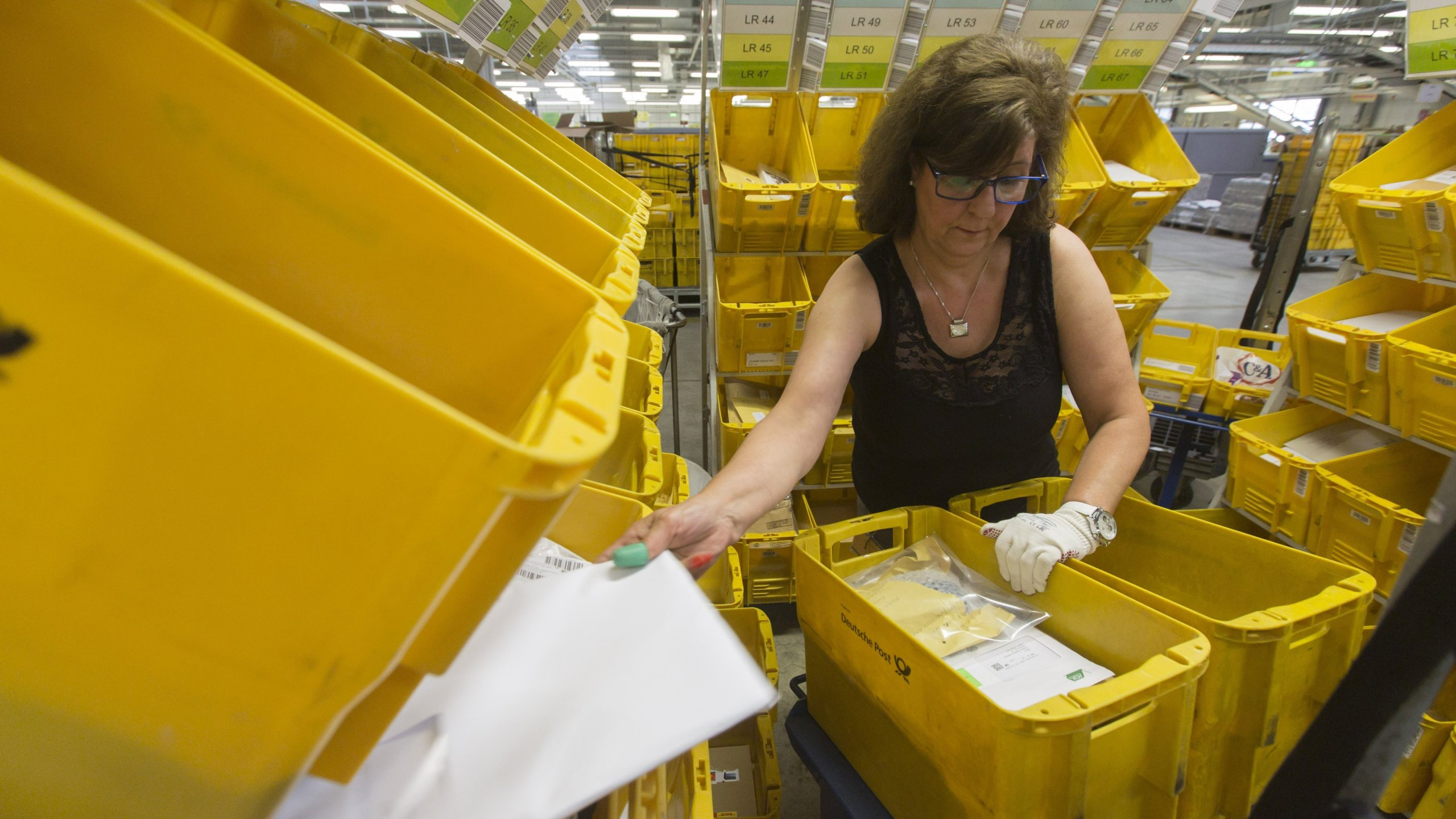 The German postal service is now offering customers the option to receive their post by email. (Credit: CNN)