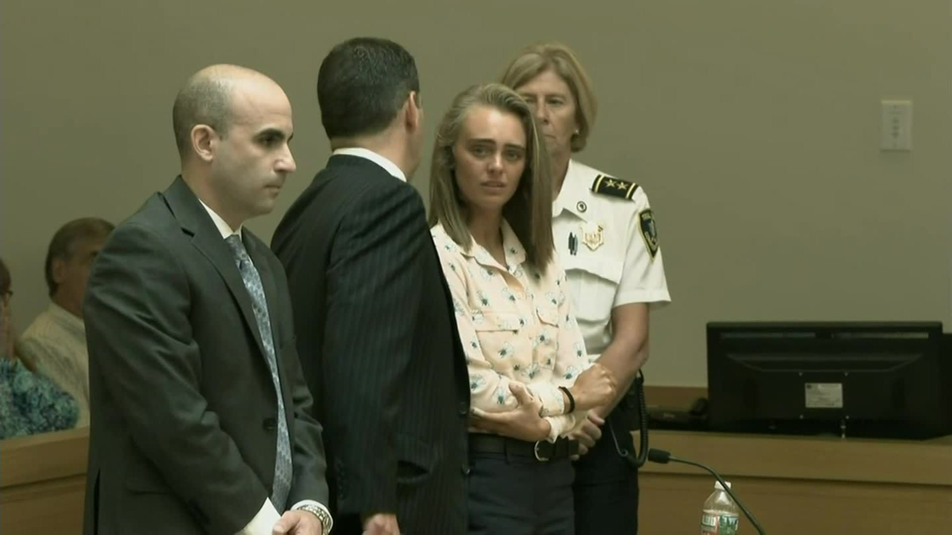 Michelle Carter appears in court in Massachusetts on Feb. 6, 2019. (Credit: Pool via CNN)