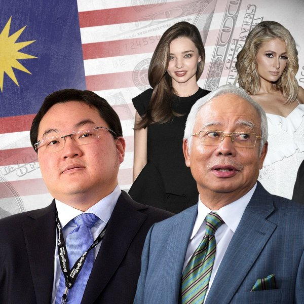 The 1MDB scandal has implicated politicians, financiers and celebrities across the world. Full credit: AFP/Getty Images/AP/Composite