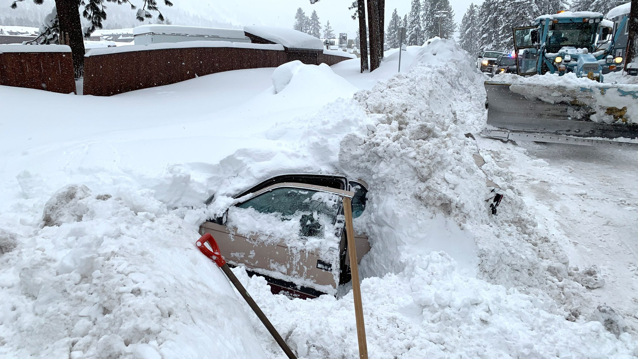 A woman said she was buried in the car for four to five hours. (Credit: City of South Lake Tahoe)