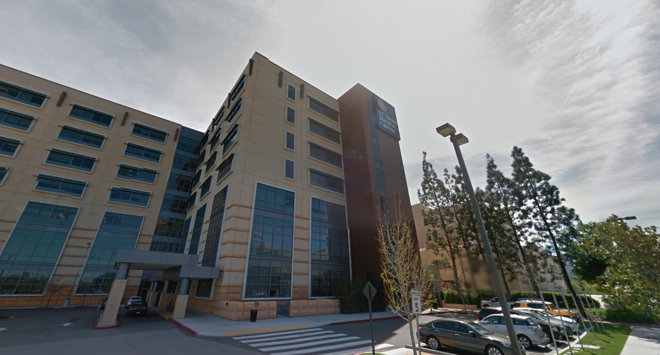 The UCI Medical Center in Orange is seen in a Google Maps street view image on Feb. 9, 2019.