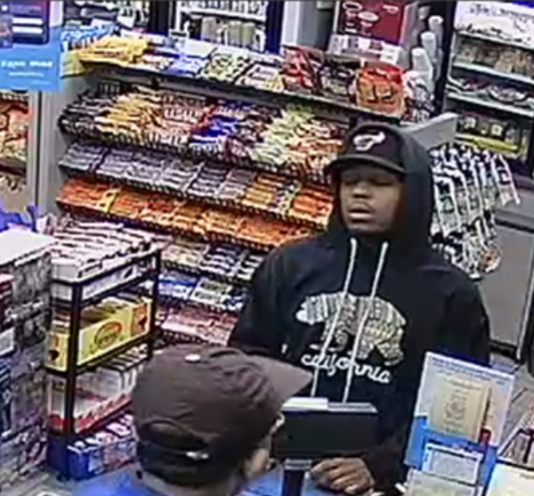 Los Angeles police released this image of an armed robbery suspect in Canoga Park on Feb. 22, 2019.