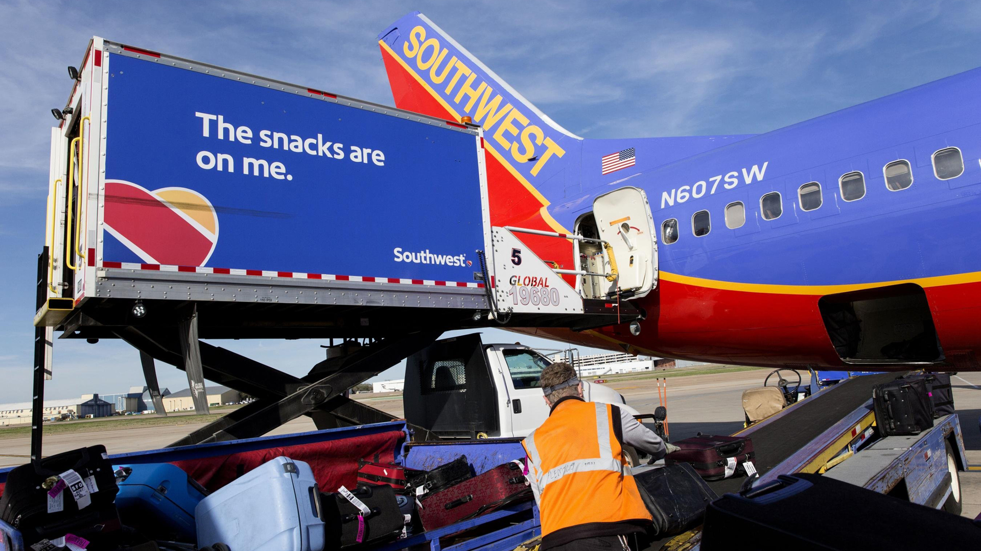 A Southwest plane is seen in a file photo. (Credit: Laura Buckman/Bloomberg/Getty)
