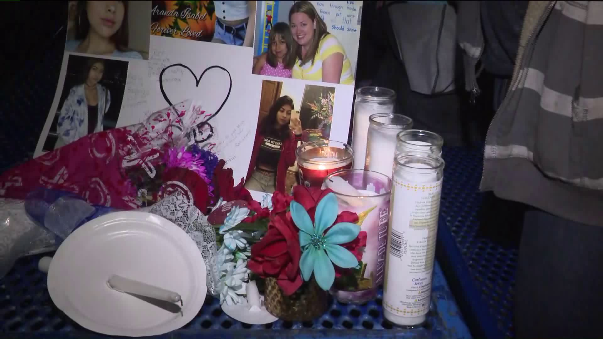 Loved ones held a vigil for missing and presumed slain 16-year-old Aranda Briones of Moreno Valley at Moreno Valley Community Park on Feb. 16, 2019.