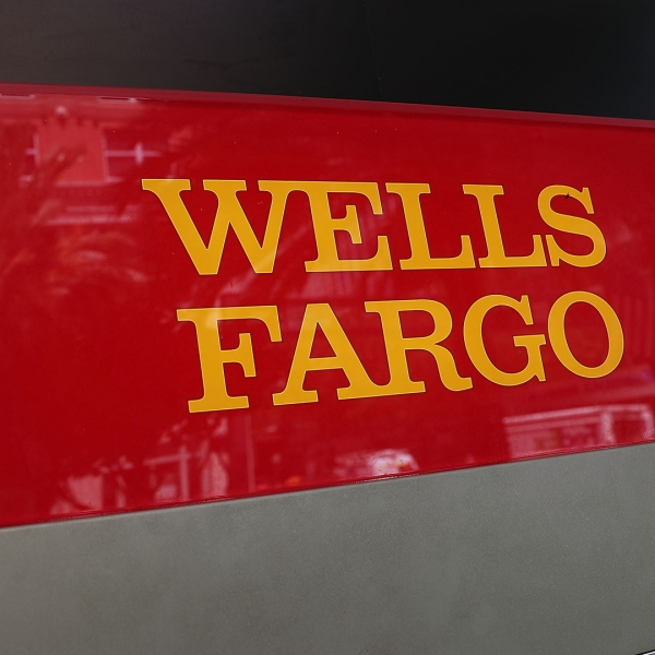 A sign is seen on a Wells Fargo ATM at one of their bank branches on September 9, 2016 in Miami. (Credit: Joe Raedle/Getty Images)