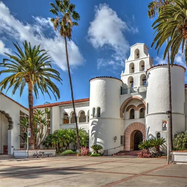 San Diego State University is seen in an image posted on the school's Facebook page on Feb. 25, 2015.