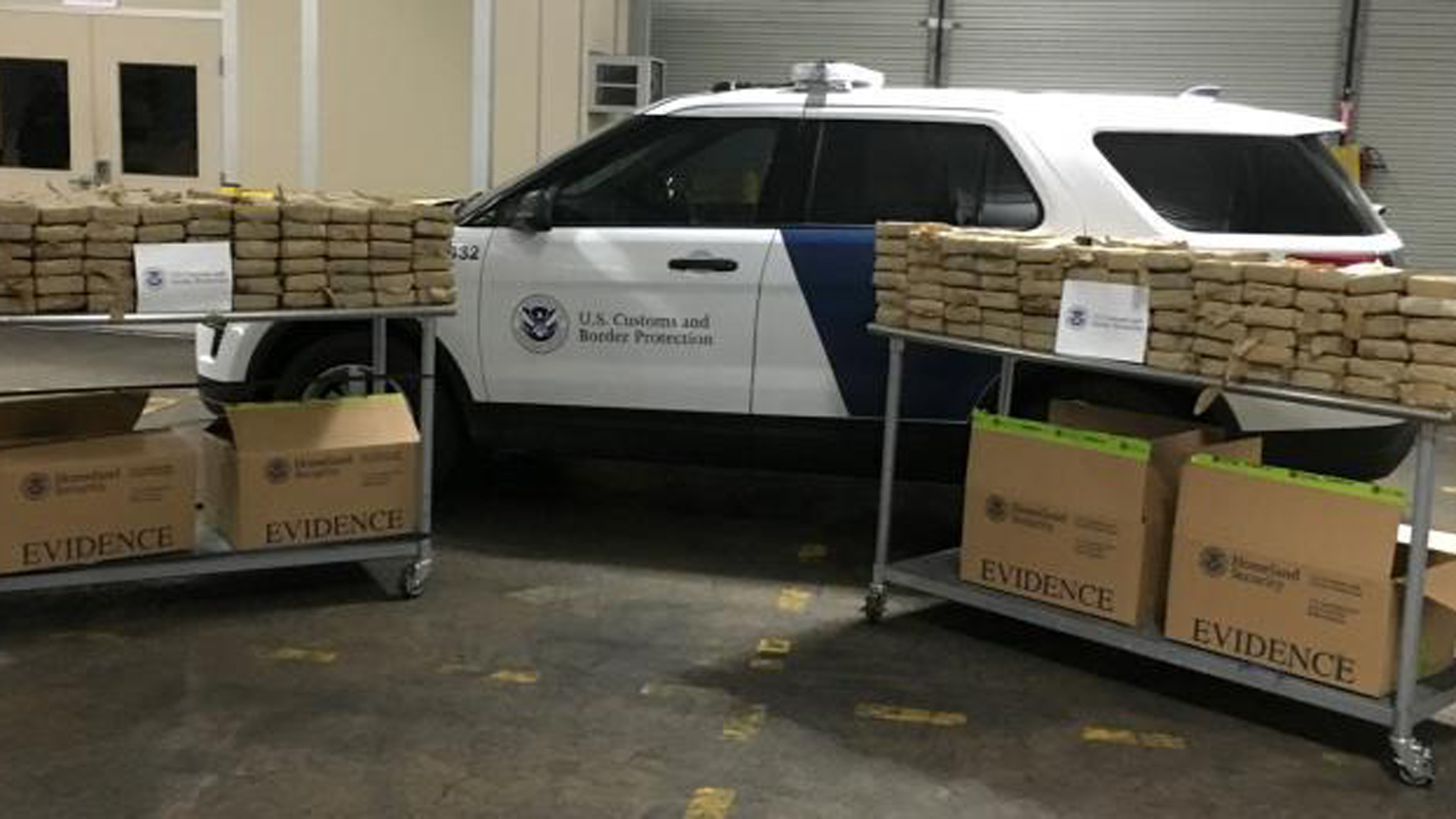 The U.S. Custom and Border Protection released this photo of cocaine seized in a shipping container in Philadelphia on March 19, 2019.