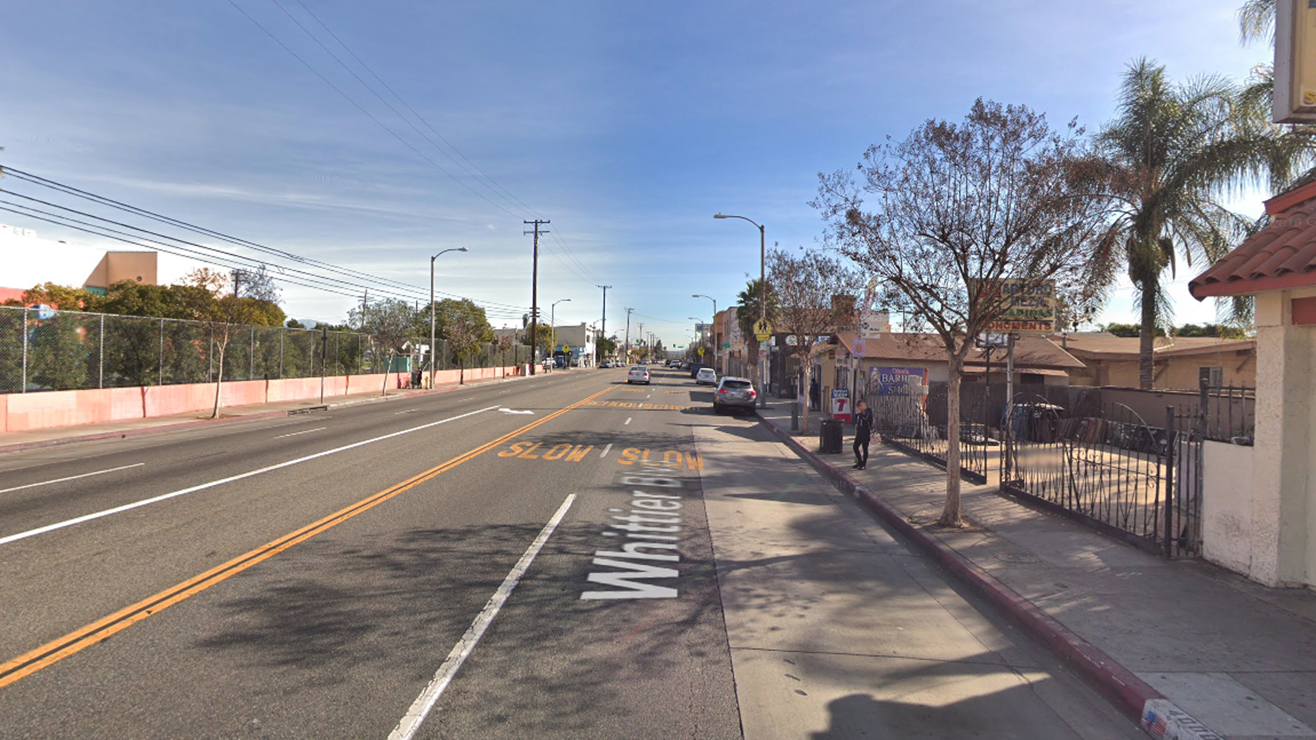 The 4000 block of Whittier Boulevard in East Los Angeles, as pictured in a Google Street View image in January of 2018.
