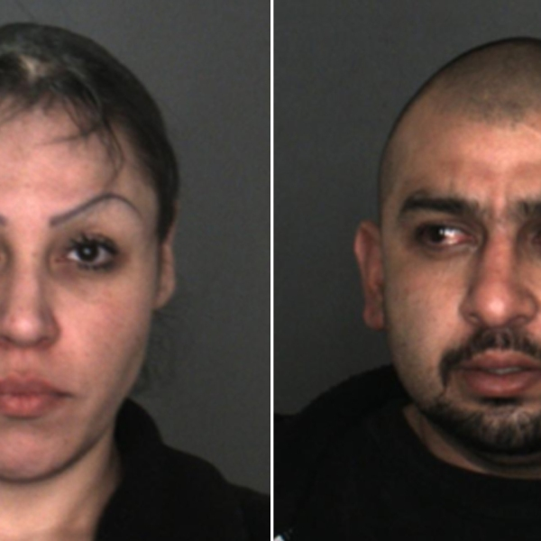 From left: Miriam Sandoval Montano, 37, and Richard Rojo, 34, are seen in booking photos released by the Fontana Police Department on March 4, 2019.