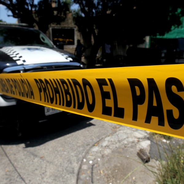 File photo of crime scene tape in Guadalajara, Jalisco State, Mexico. (Credit: ULISES RUIZ/AFP/Getty Images)