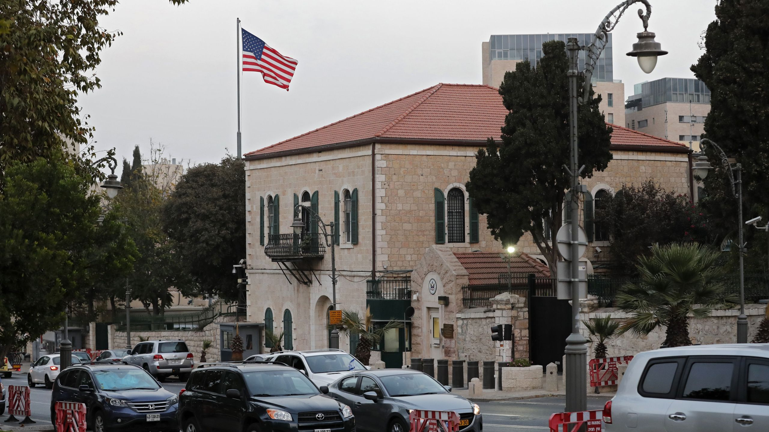 A picture taken on October 18, 2018 shows the U.S. Consulate in Jerusalem. (Credit: Thomas Coex/AFP/Getty Images)