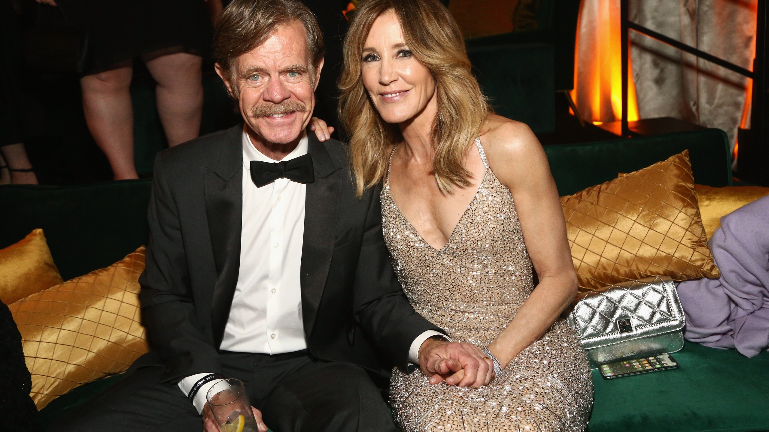 Felicity Huffman, right, and William H. Macy attend the Netflix 2019 Golden Globes After Party in Los Angeles on Jan. 6, 2019. (Credit: Tommaso Boddi / Getty Images for Netflix)