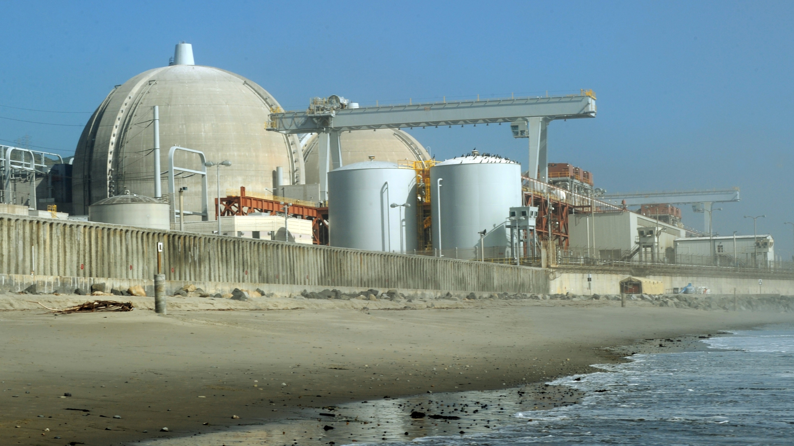 View of the San Onofre Nuclear Power Plant in north San Diego County on March 15, 2011. (Credit: MARK RALSTON/AFP/Getty Images)