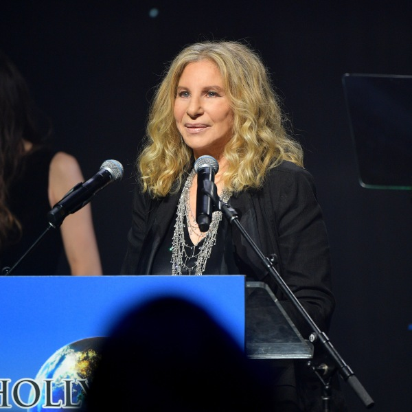 Barbra Streisand accepts an award at the 2019 Hollywood for Science Gala on Feb. 21, 2019 in Beverly Hills. (Credit: Matt Winkelmeyer/Getty Images for UCLA Institute of the Environment & Sustainability)