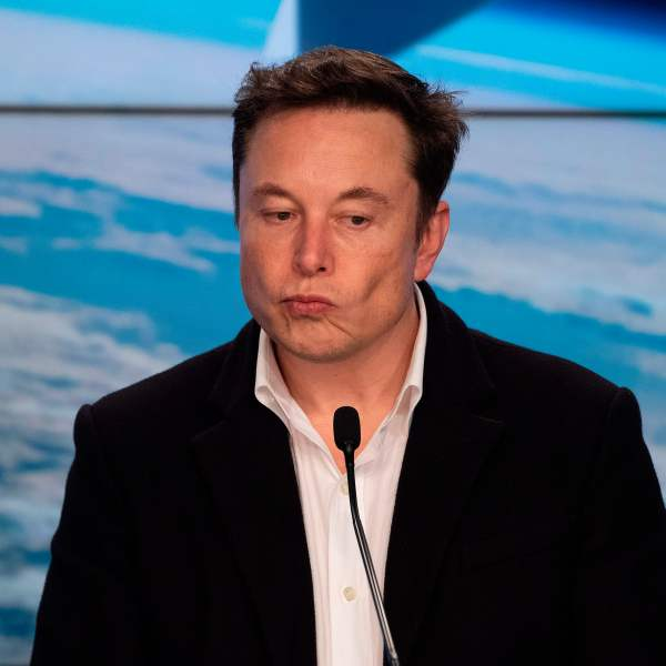 Elon Musk speaks during a press conference after the launch of SpaceX Crew Dragon Demo mission at the Kennedy Space Center in Florida on March 2, 2019. (Credit: JIM WATSON/AFP/Getty Images)