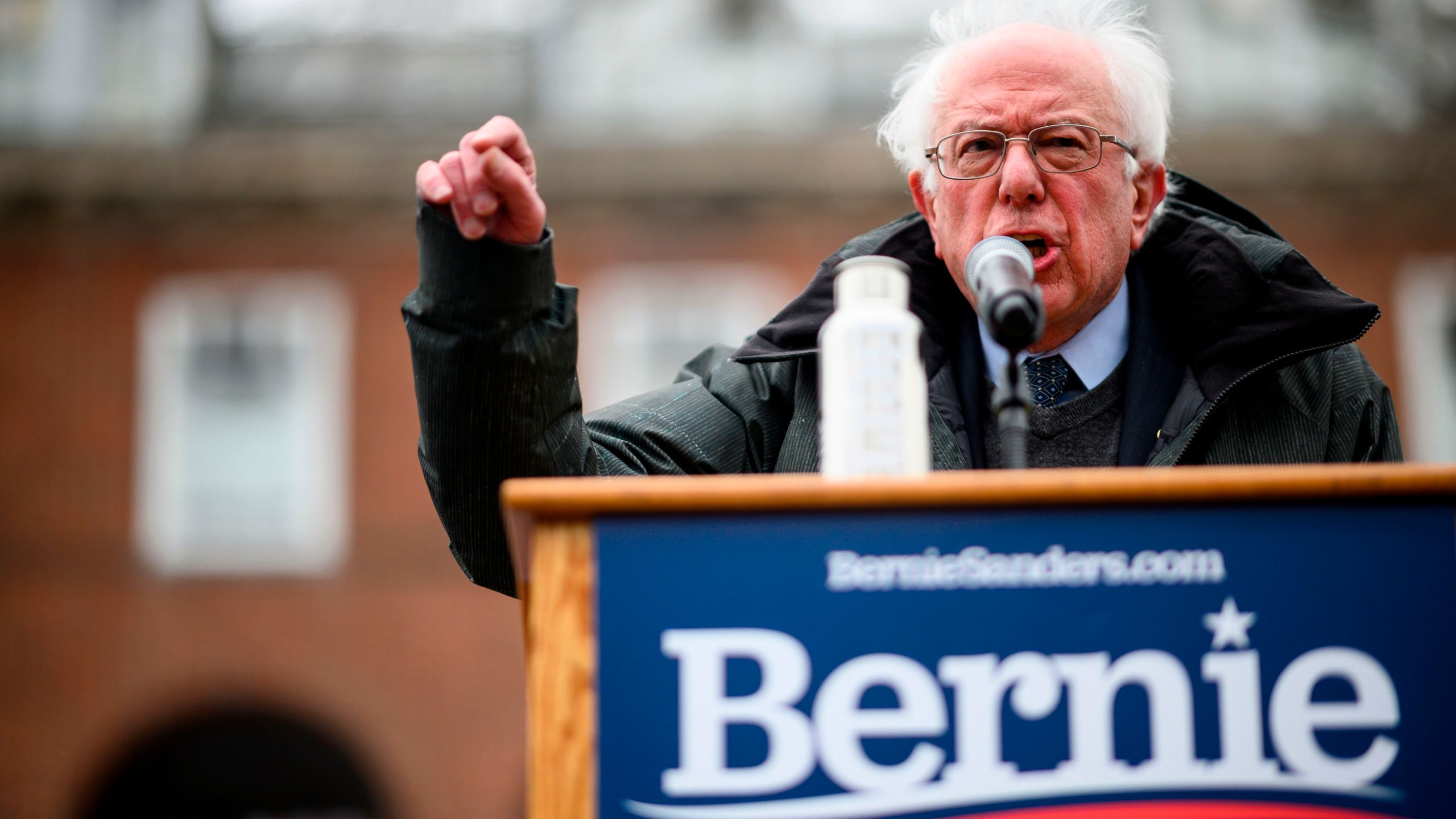 U.S. Senator Bernie Sanders speaks during a rally to kick off his 2020 U.S. presidential campaign, in the Brooklyn borough of New York City on March 2, 2019. (Credit: JOHANNES EISELE/AFP/Getty Images)