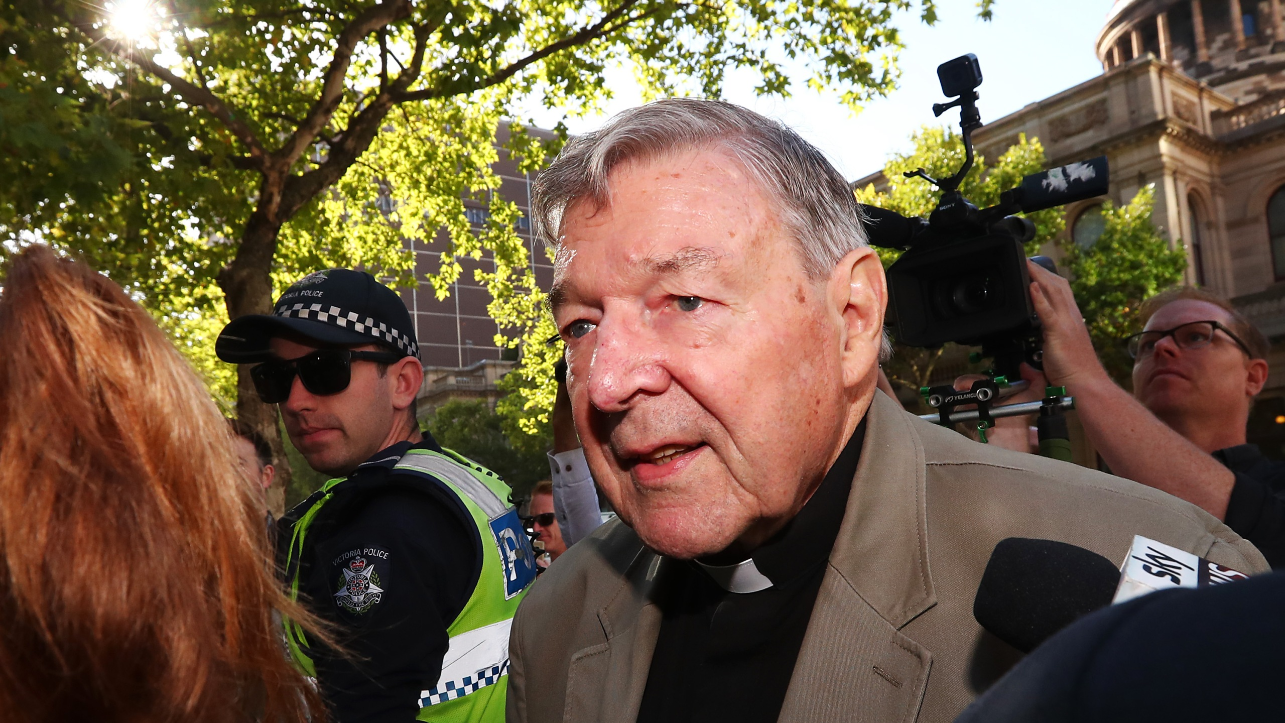 Cardinal George Pell arrives at Melbourne County Court on Feb. 27, 2019. (Credit: Michael Dodge/Getty Images)