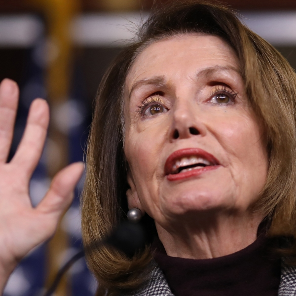 Speaker of the House Nancy Pelosi (D-CA) answers questions during her weekly press conference at the U.S. Capitol on Feb. 28, 2019. (Credit: Win McNamee/Getty Images)