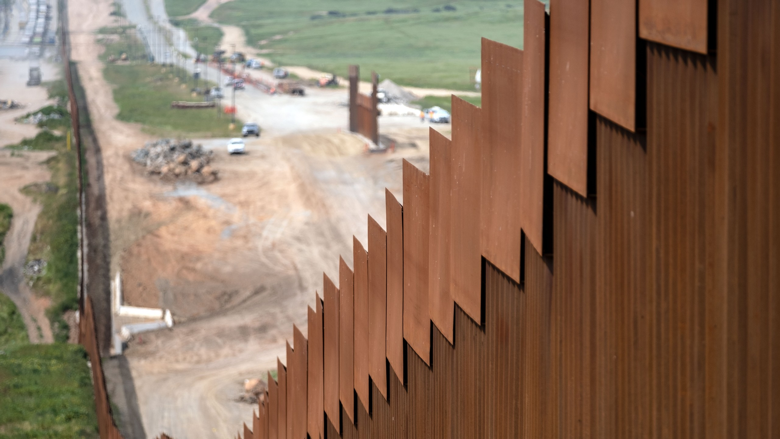 A section of the U.S.-Mexico border fence is seen from Tijuana on March 26, 2019. (Credit: Guillermo Arias / AFP / Getty Images)