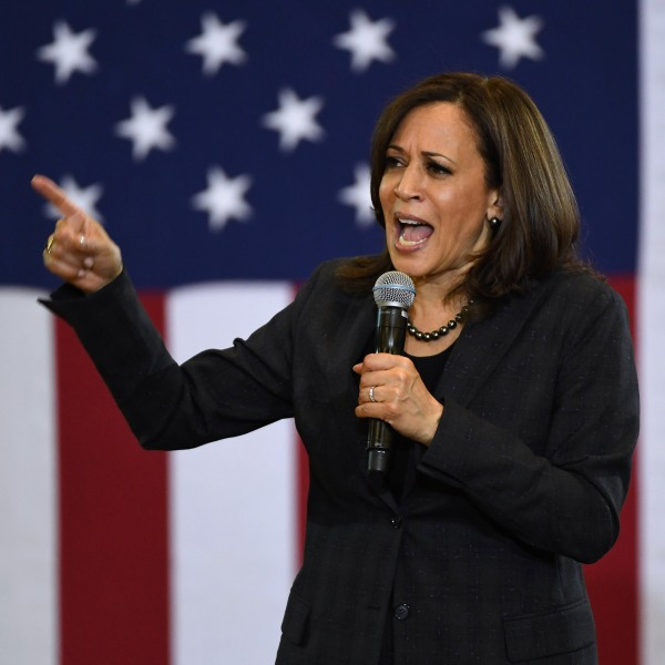 U.S. Sen. Kamala Harris (D-CA) speaks during a town hall meeting at Canyon Springs High School on March 1, 2019 in North Las Vegas, Nevada. Harris is campaigning for the 2020 Democratic nomination for president. (Credit: Ethan Miller/Getty Images)