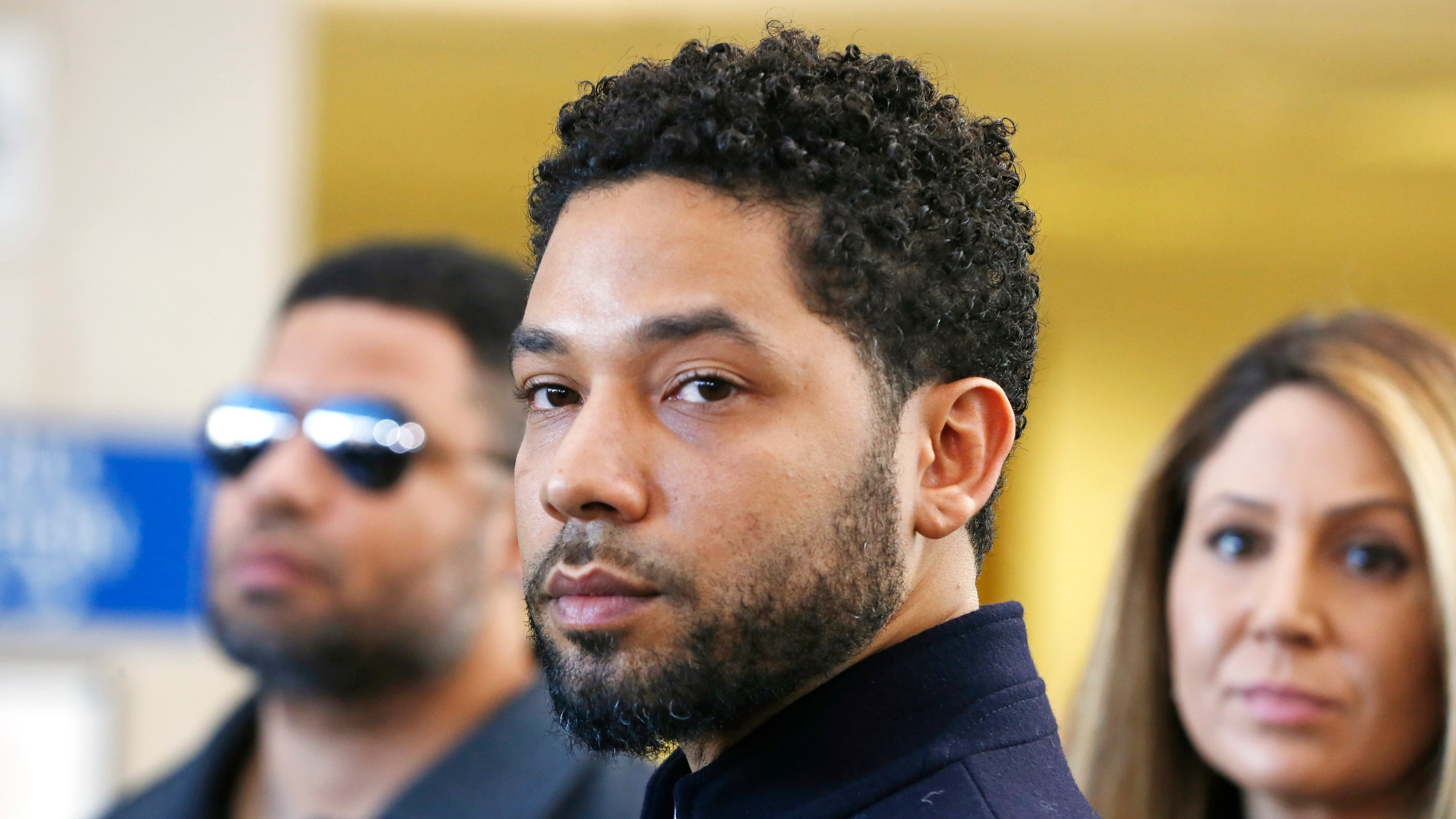 Actor Jussie Smollett after his court appearance at Leighton Courthouse on March 26, 2019, in Chicago, Illinois.(Credit: Nuccio DiNuzzo/Getty Images)