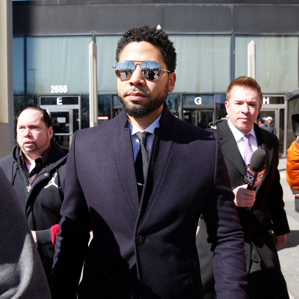 Actor Jussie Smollett leaves the Leighton Courthouse after his court appearance on March 26, 2019 in Chicago, Illinois. (Credit: Nuccio DiNuzzo/Getty Images)