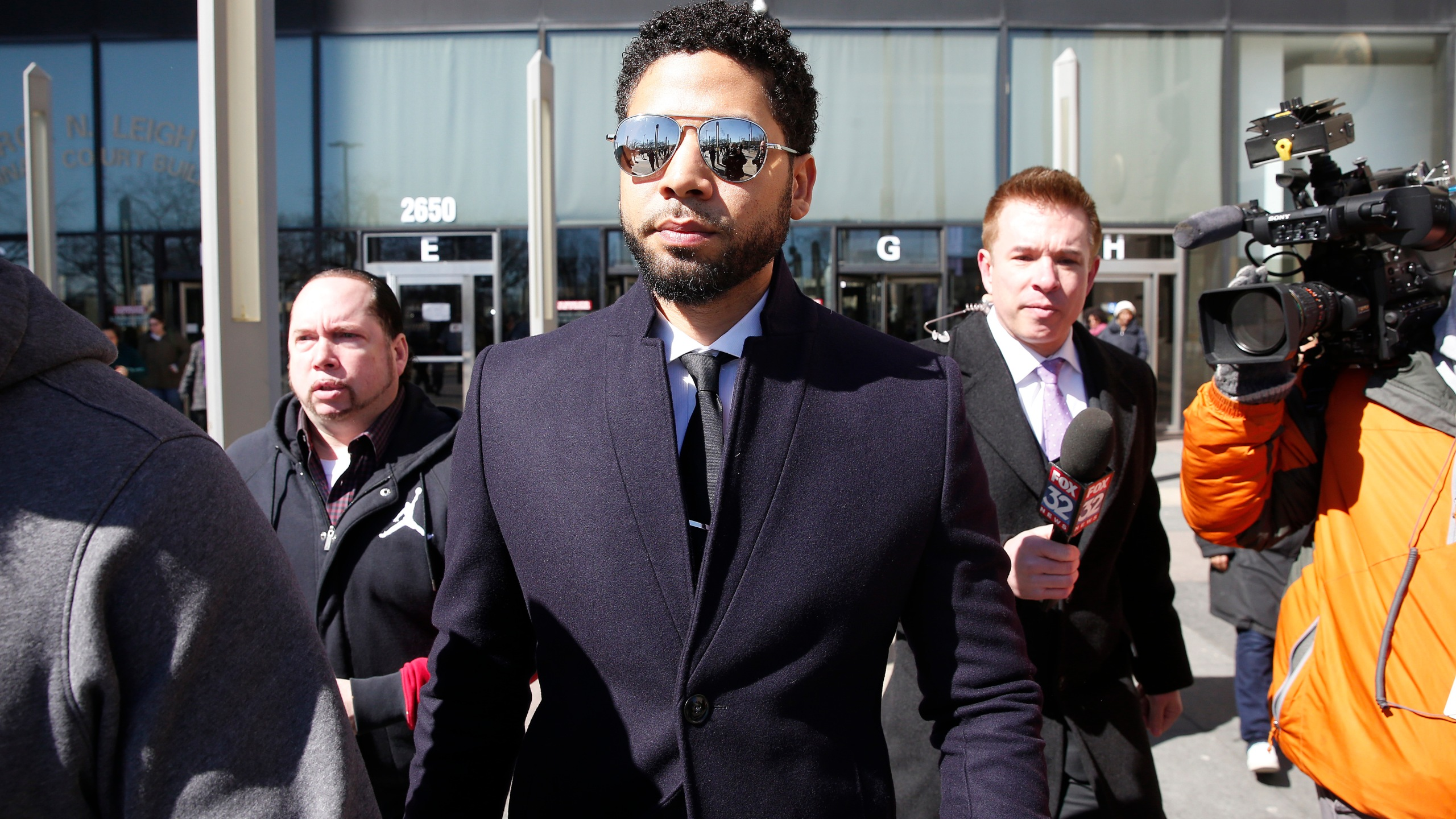 Jussie Smollett leaves the Leighton Courthouse on March 26, 2019 in Chicago, Illinois. (Credit: Nuccio DiNuzzo/Getty Images)