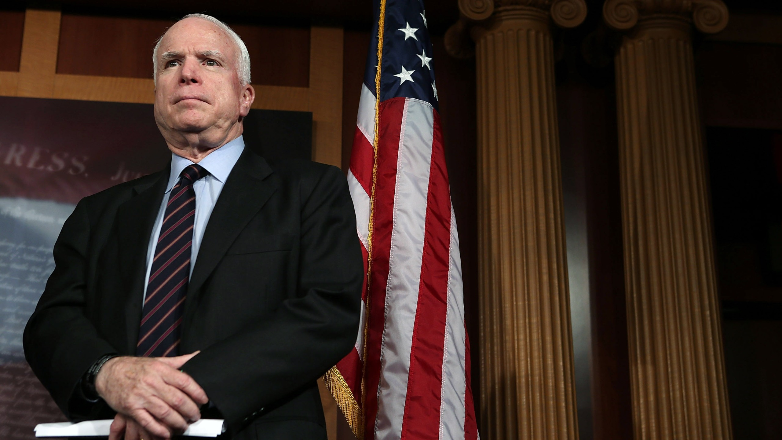 Sen. John McCain (R-AZ) is seen on December 6, 2012 on Capitol Hill in Washington, DC. (Credit: Alex Wong/Getty Images)